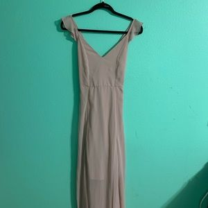 Dusty Rose Long Semi-Formal Dress